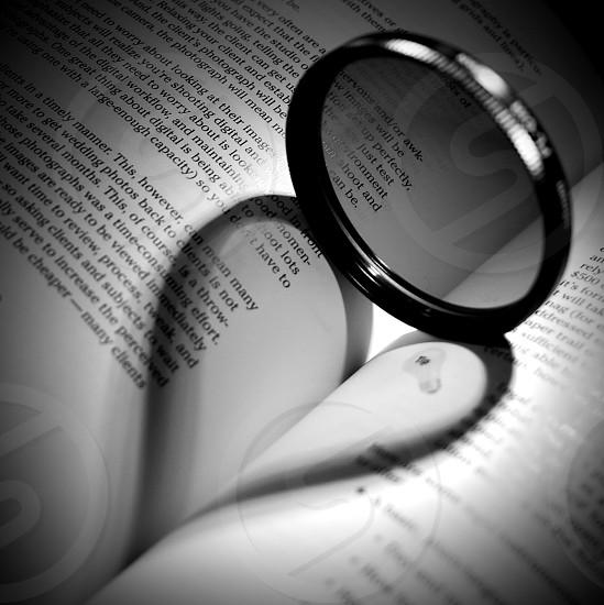Circular polarizer filter digital photography book heart love shadow black and white photo