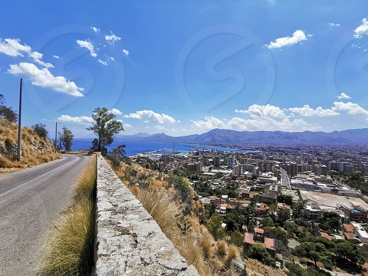 Palermo view from a street on Monte Pellegrino (2) photo