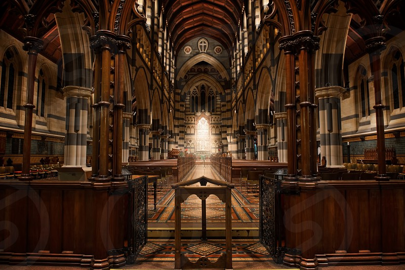 This photo was taken inside St Paul's Cathedral Melbourne. photo