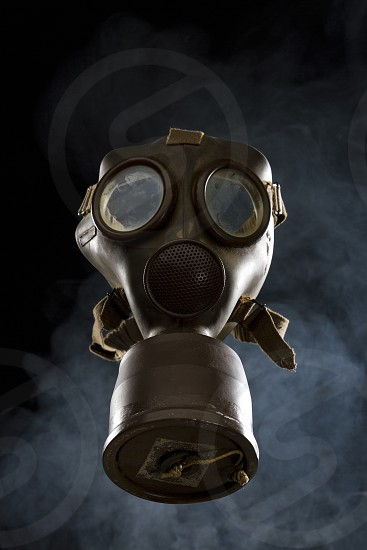 Old gas mask of World War II photo