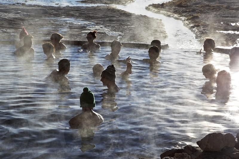 thermal baths in High Plateau. bolivia photo