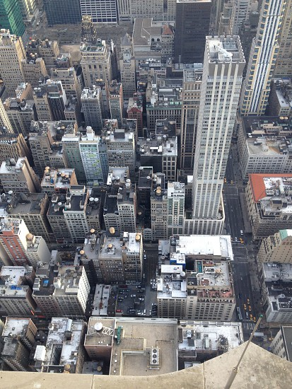 top-view photo of high-rise buildings photo