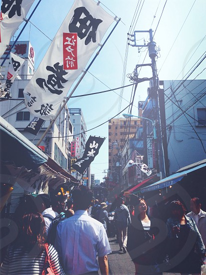 tsukiji market; bustling streets; Tokyo; Japan; travel; adventure photo