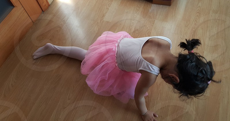 ballerina dancing girl ballet tutu pink skirt child happy shildhood fun clothes fashion dance workout  photo