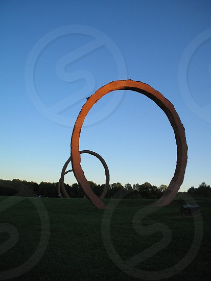 Stone rings in a park photo
