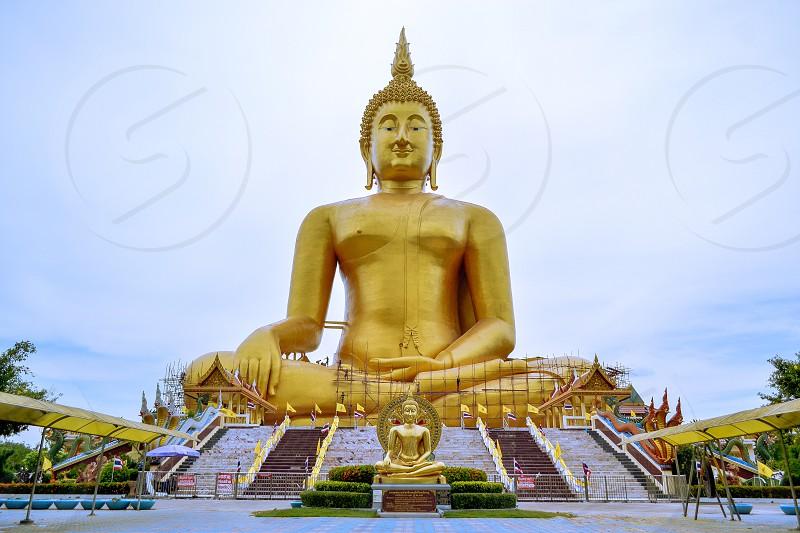 Big buddha statue at Ang Thong in Thailand photo