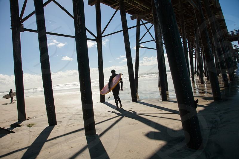 ocean surfing california photo