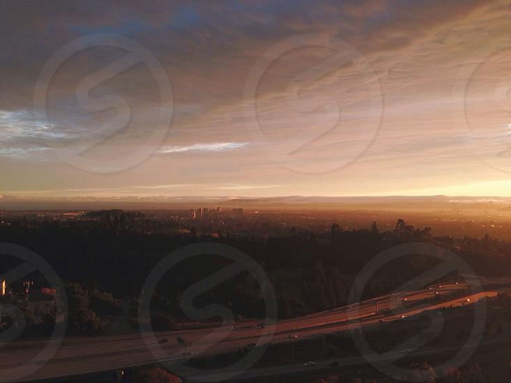 Distant city view photo photo