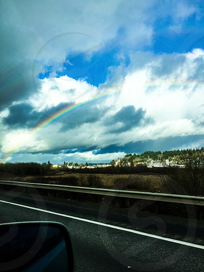 Road trip rainbow  photo