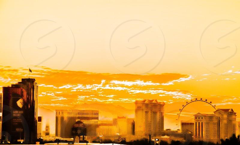 Sincity sin city Las Vegas sunset sunrise the Linq high roller harrahs harrah's rio casino nevada desert photo