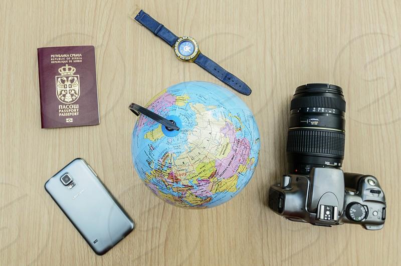 Globe travel guide travel destinations photo