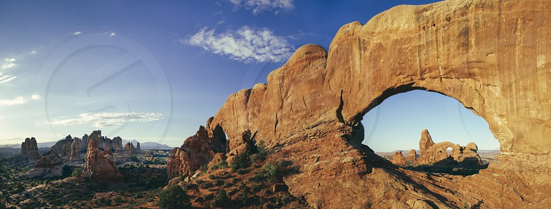Sunrise at Window Arches Utah. photo