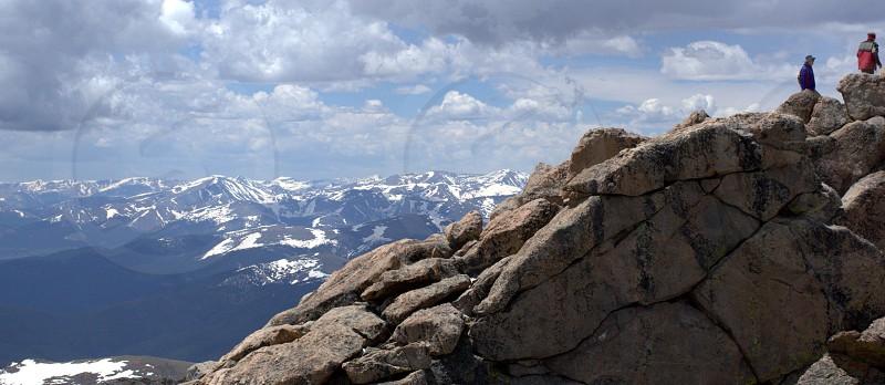 mount evans colorado climbing peak adventure photo