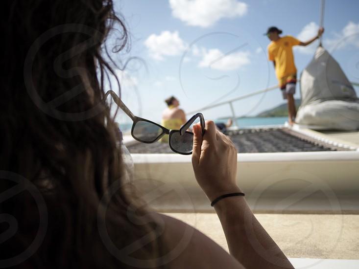 Cruising off the coast of Antigua  photo