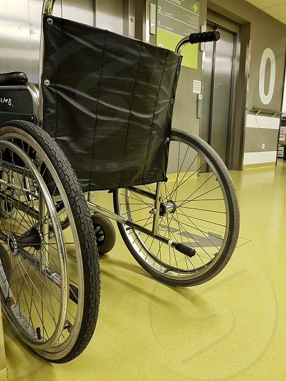 Wheelchair in a hospital. photo