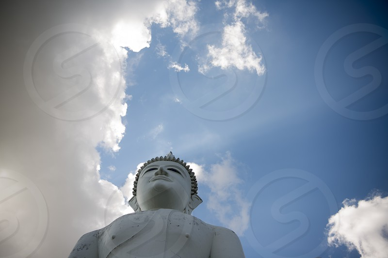 the Big Buddha at the Wat Khao Phanom Sawai near the city of Surin in Isan in Thailand. photo