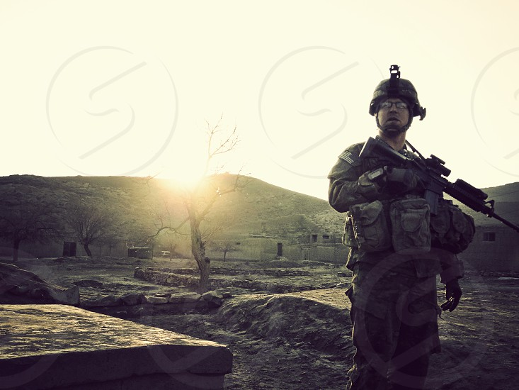 American Soldier Sunrise photo