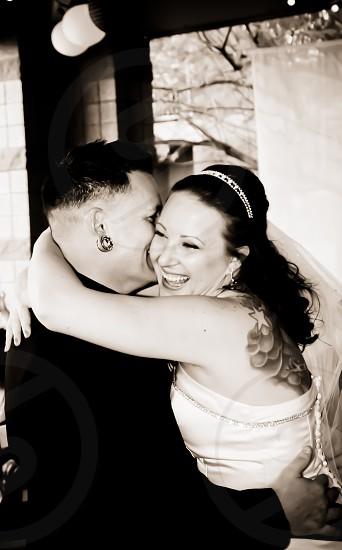 B&W Wedding photo