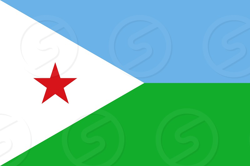 Official Large Flat Flag of Djibouti Horizontal photo