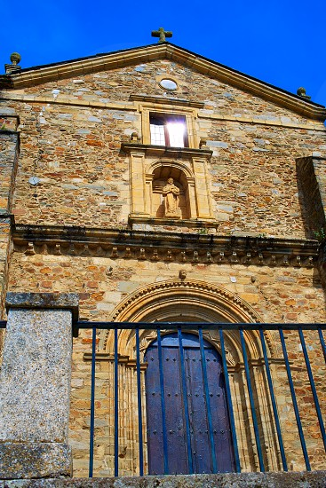 Villafranca del Bierzo by Way of Saint James San Francisco church in Leon Spain photo