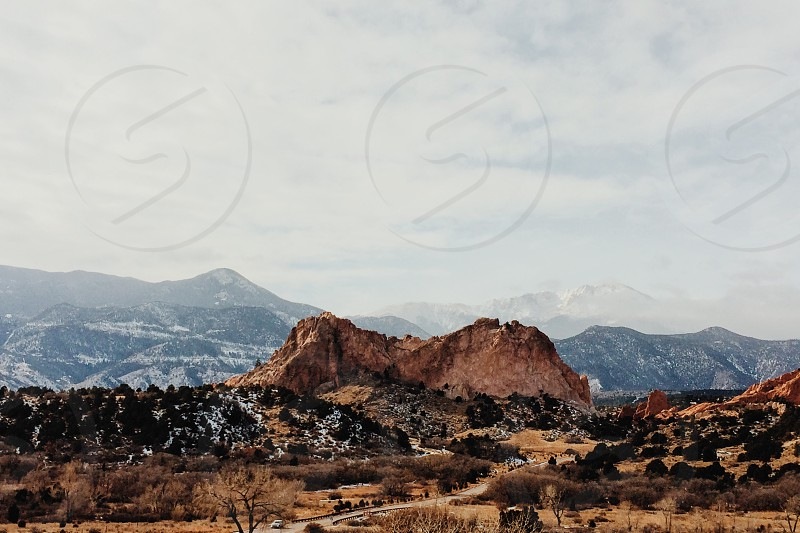 Denver Colorado Garden of the Gods mountains winter snow travel family beautiful nature landscape climbing  photo