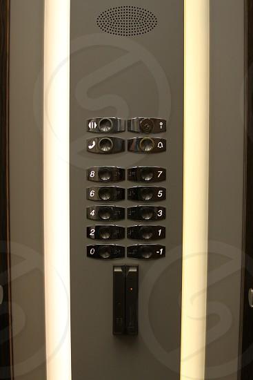 German elevator buttons photo