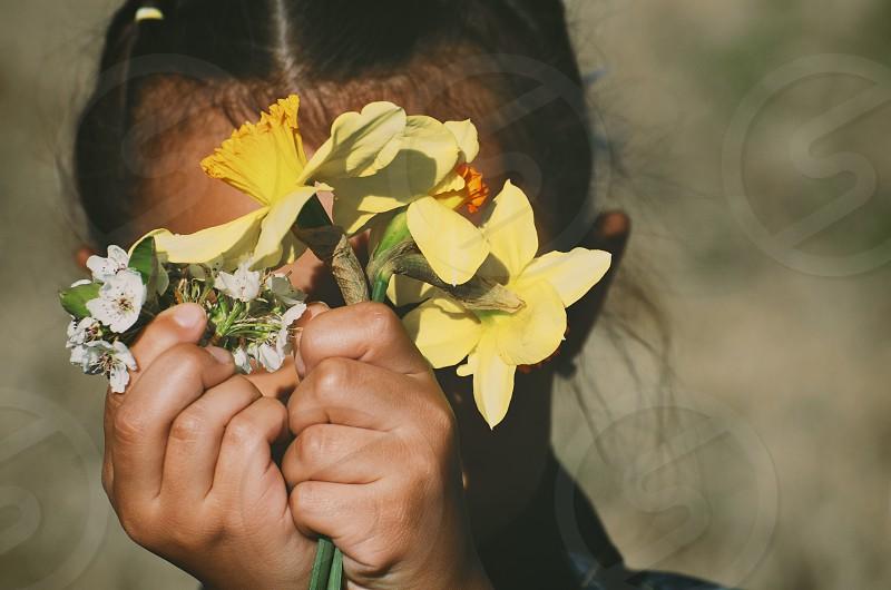 Flower child childhood photo