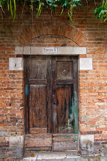 Venice Italy unusual old door dettail view  photo
