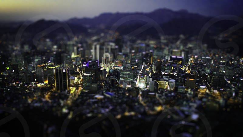 cityscape on night view photo