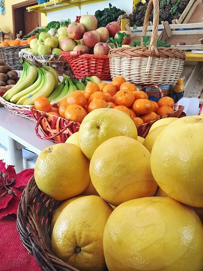 Orange mandarin organic food fruit fresh  photo