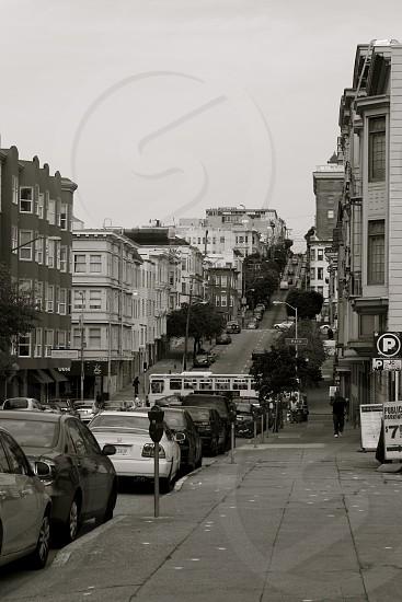 A hilly San Francisco street photo