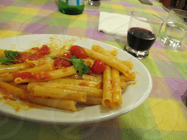 PastaFreshTomatoesItalyCuisineItalian photo