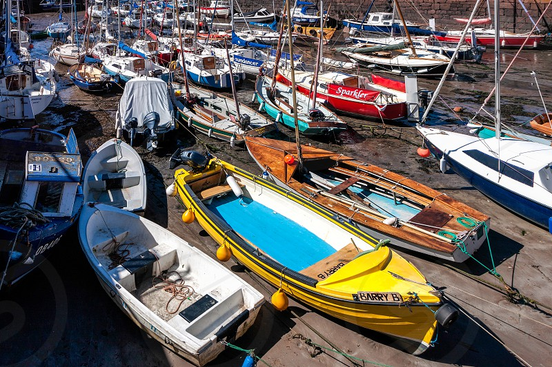 Crowded Harbour at North Berwick photo