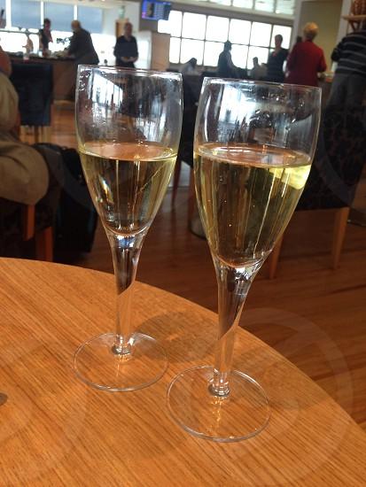 Champagne glasses flutes photo