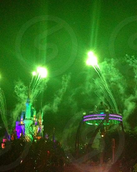 green fireworks photo