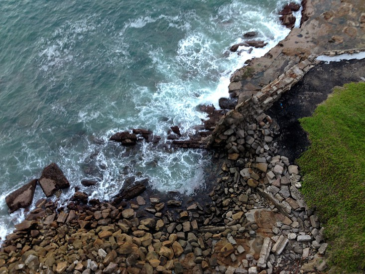 beach top view photo