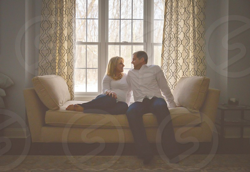 Beautiful couple; maternity; pregnancy; parents  photo