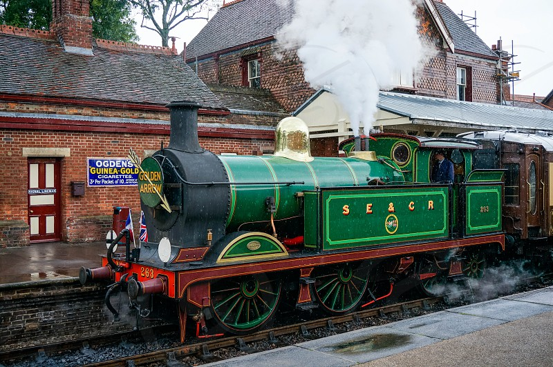 Golden Arrow at Sheffield Park station photo