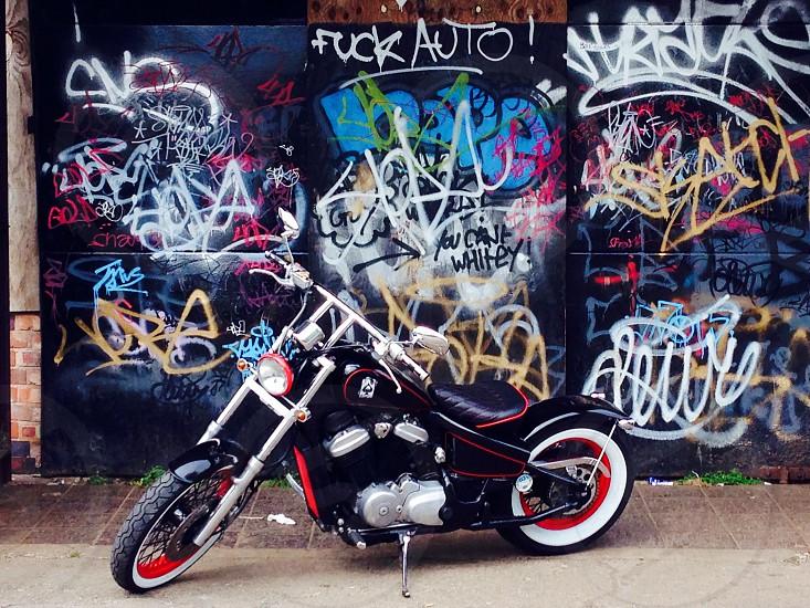 Honda VT600 custom bobber photo
