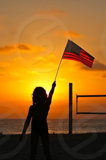 Julia raises the flag photo