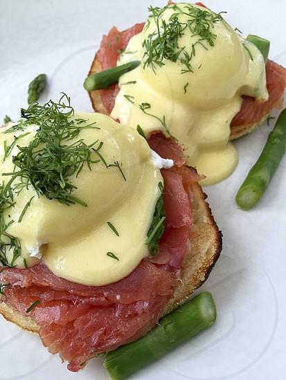 Eggs Benedict Salmon Breakfast  photo