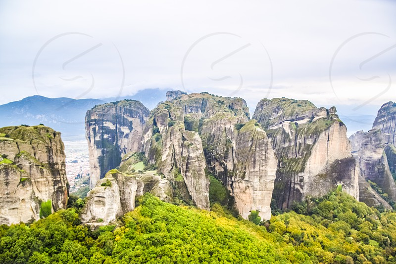 View Of Meteora In Greece photo