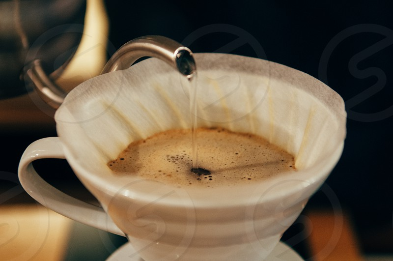 V60 being prepared photo
