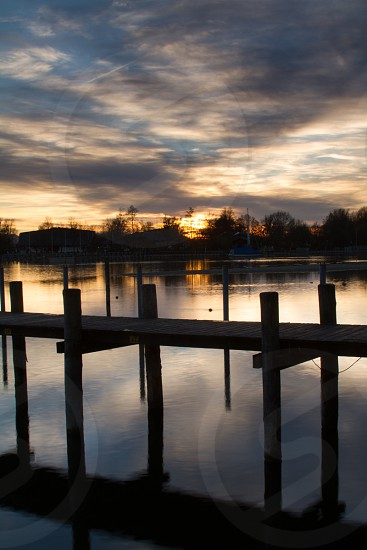 Sunset at Seebruch Bavaria Germany. photo