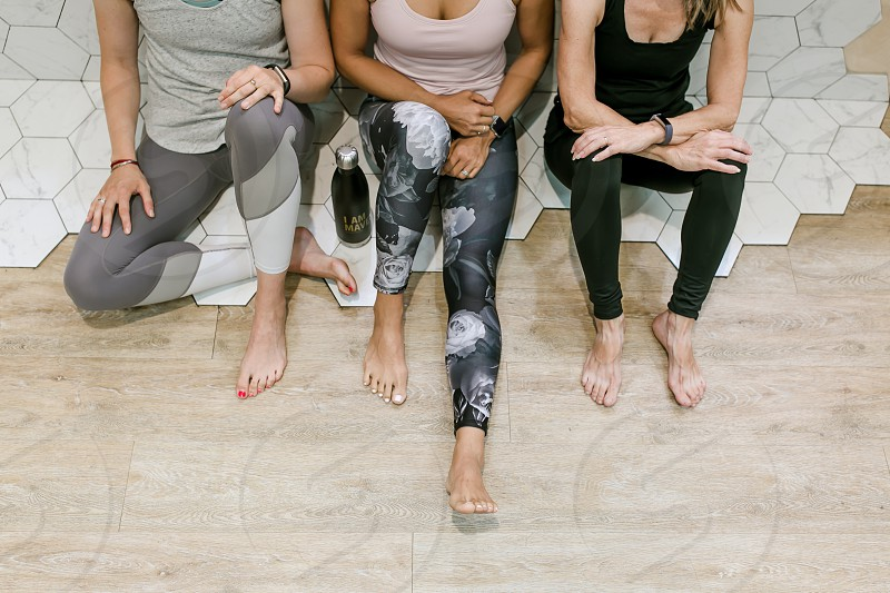 A group of young woman working out together and living a healthy lifestyle  photo