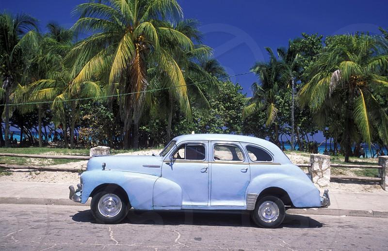 AMERICA CUBA CARIBBIAN CAR OLD CAR VARADERO photo