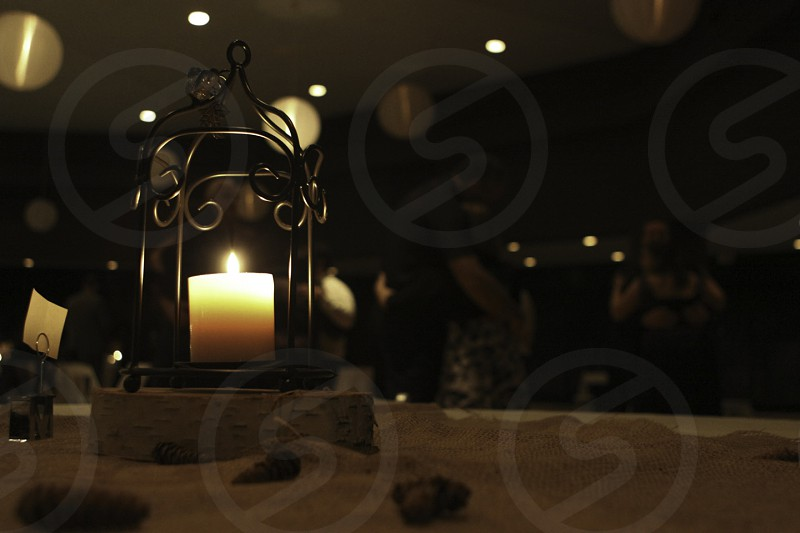 Candle reception wedding table dancing photo