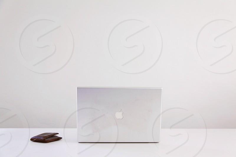 white apple laptop photo