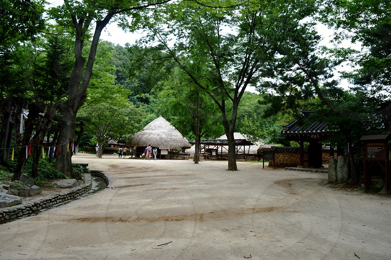 Korean Village in summer by eyes of tourist  photo