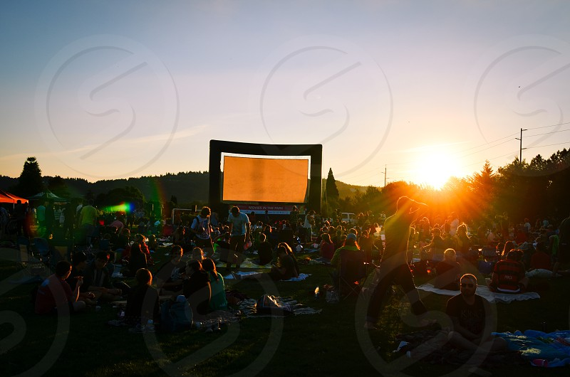 Movie in the park  photo